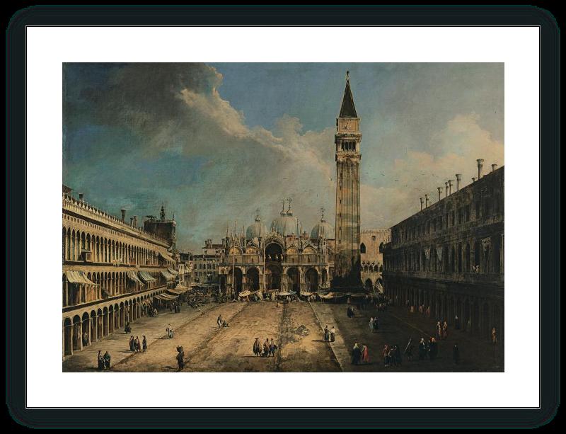 La Plaza de San Marcos en Venecia - Canaletto | Museo Nacional ...