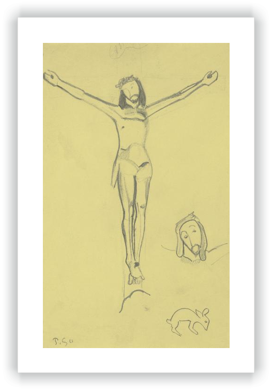 Sketch For The Yellow Christ Gauguin Paul Museo Nacional Thyssen Bornemisza