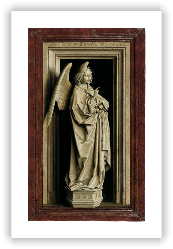 zoom Díptico de la Anunciación: El Arcángel San Gabriel (tabla izquierda)