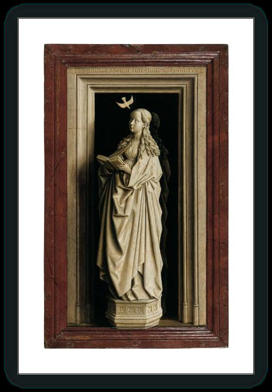 zoom Díptico de la Anunciación: La Virgen María (tabla derecha)