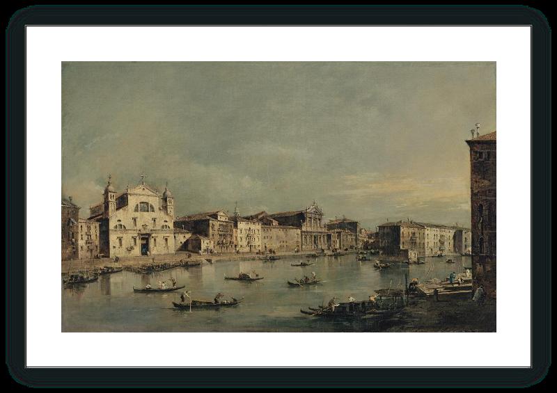zoom Vista del Canal Grande con Santa Lucia y Santa Maria di Nazareth