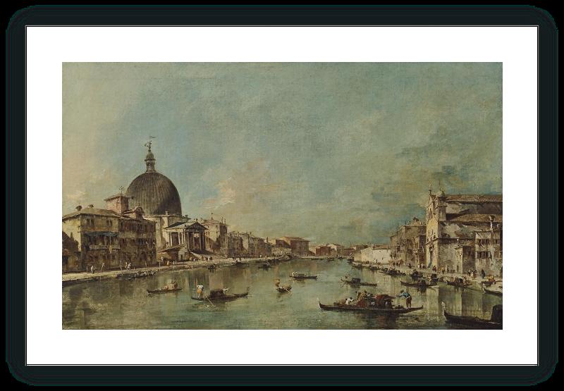 zoom Vista del Canal Grande con San Simeone Piccolo y Santa Lucía