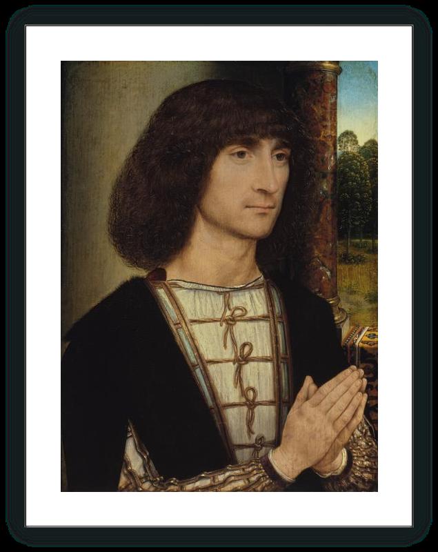 zoom Retrato de un hombre joven orando (anverso)