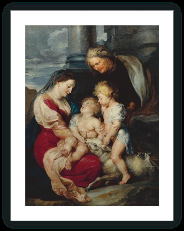zoom La Virgen y el Niño con santa Isabel y san Juanito