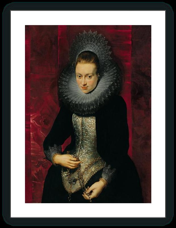 zoom Retrato de una joven dama con rosario
