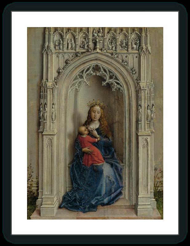 zoom La Virgen con el Niño entronizada