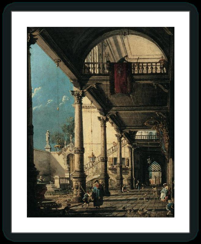 zoom Capricho con columnata en el interior de un palacio