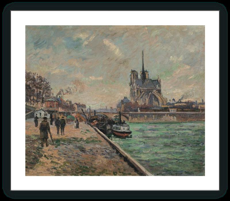 zoom El puente del Palacio del Arzobispado y el ábside de Notre-Dame de París