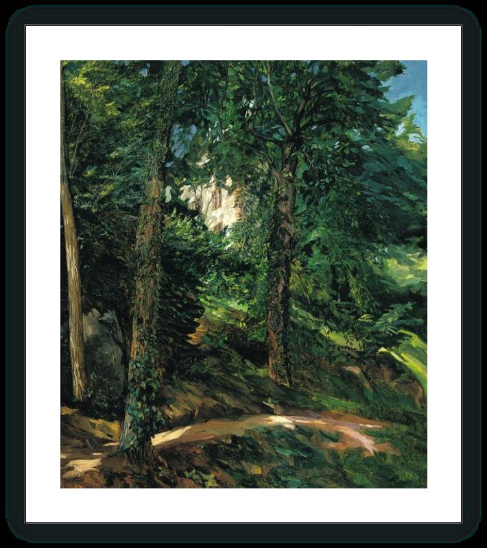 zoom Parque del Palacio en Lichtenberg en el Odenwald