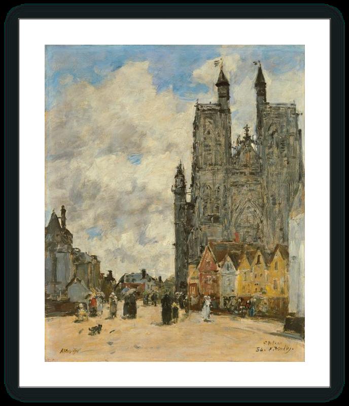 zoom La plaza de la Iglesia de Saint Vulfran en Abbeville