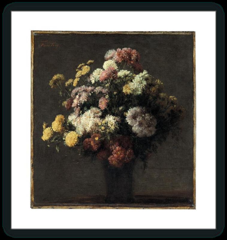 zoom Crisantemos en un florero
