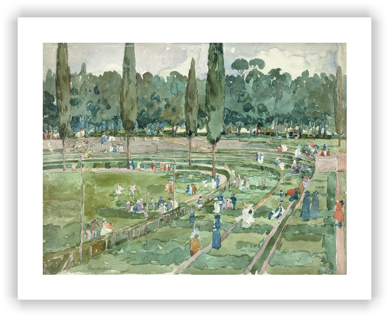 zoom El hipódromo (Piazza Siena, Jardines Borghese, Roma)