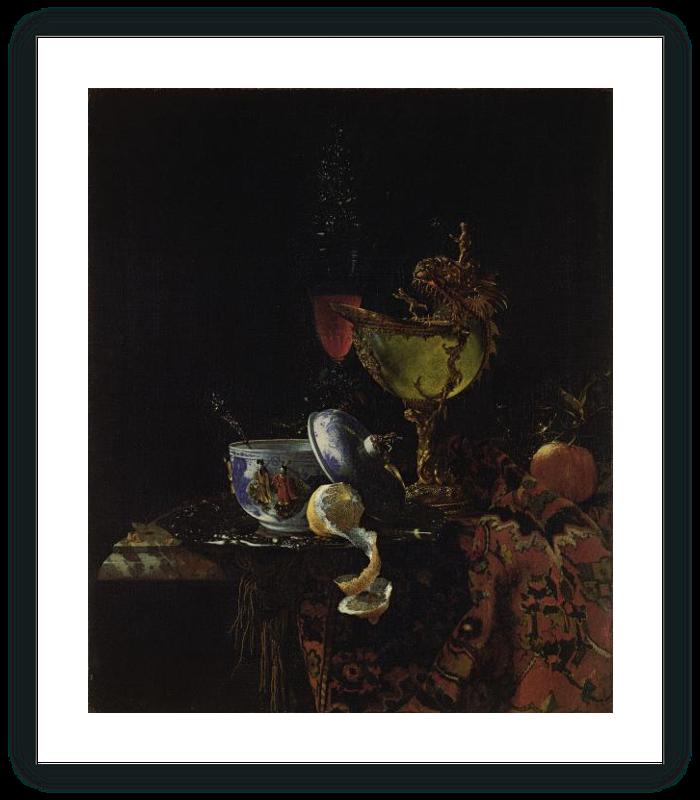zoom Bodegón con cuenco chino, copa nautilo y otros objetos