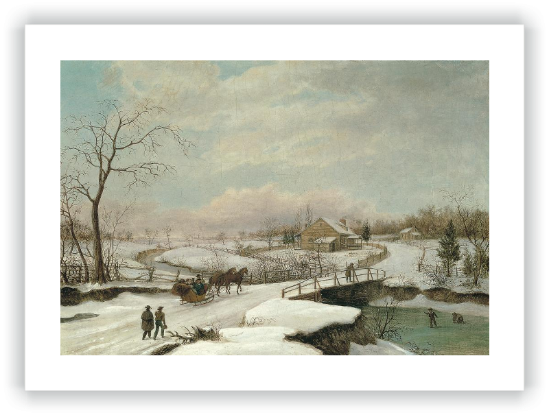 zoom Paisaje invernal en Filadelfia
