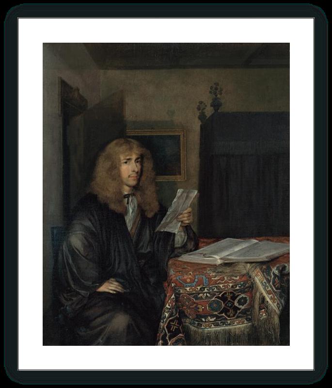 zoom Retrato de un hombre leyendo un documento
