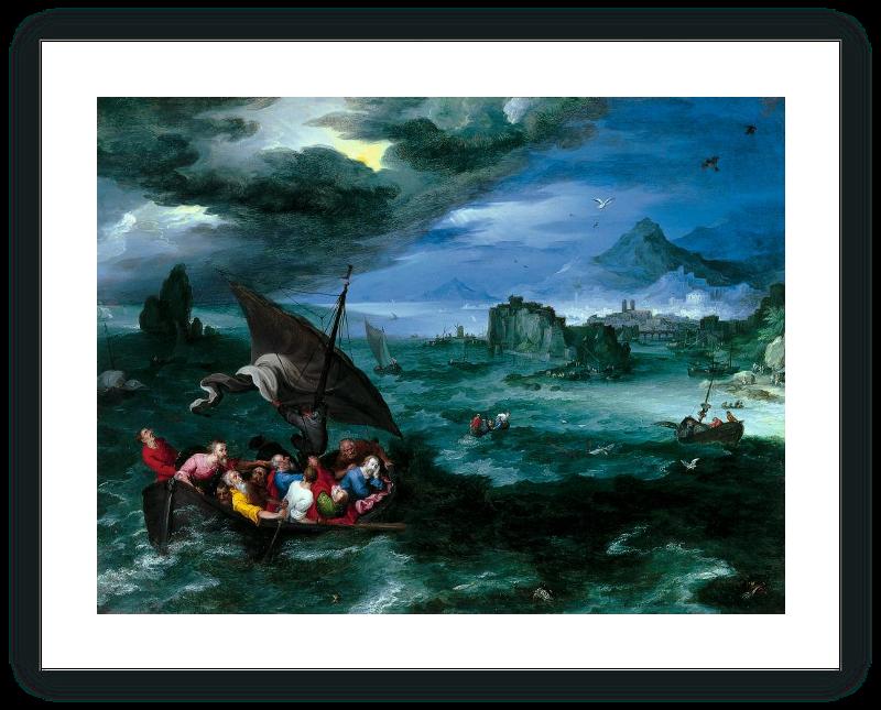 zoom Cristo en la tempestad del mar de Galilea