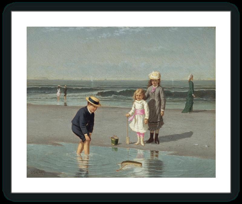 zoom Niños en la playa