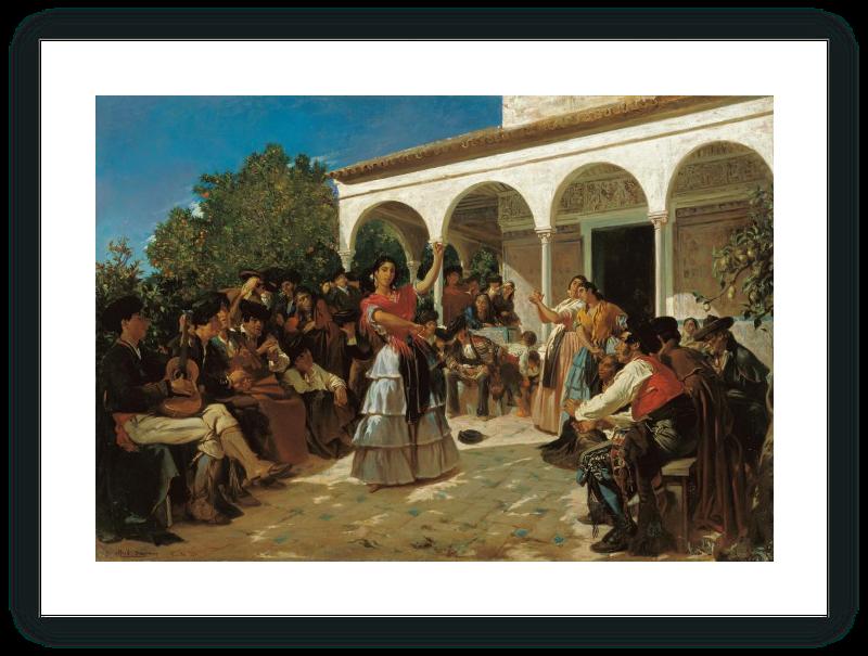 zoom Un baile de gitanos en los jardines del Alcázar, delante del pabellón de Carlos V