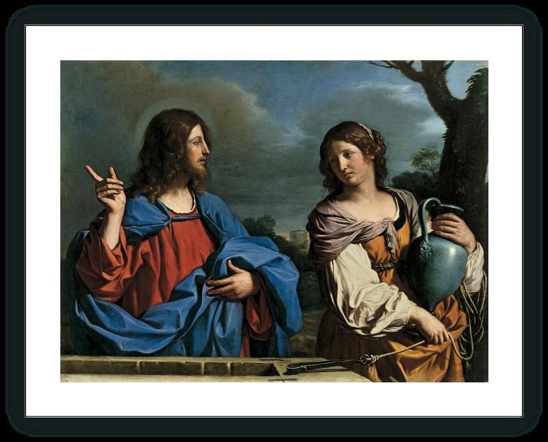 zoom Jesús y la Samaritana en el pozo