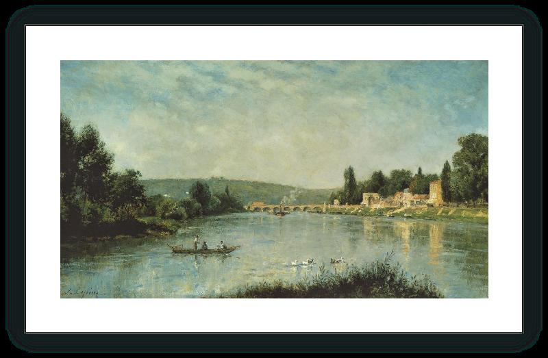 zoom El Sena en el puente de Sèvres
