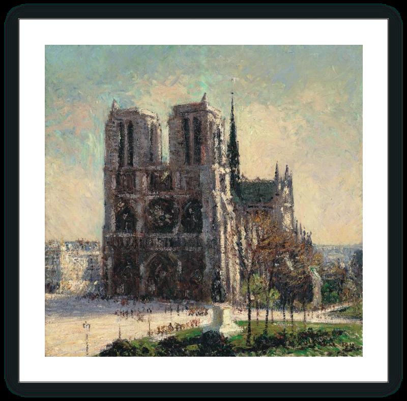 zoom Vista de Notre-Dame, París