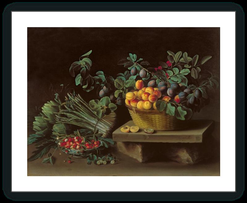 zoom Bodegón con frutas