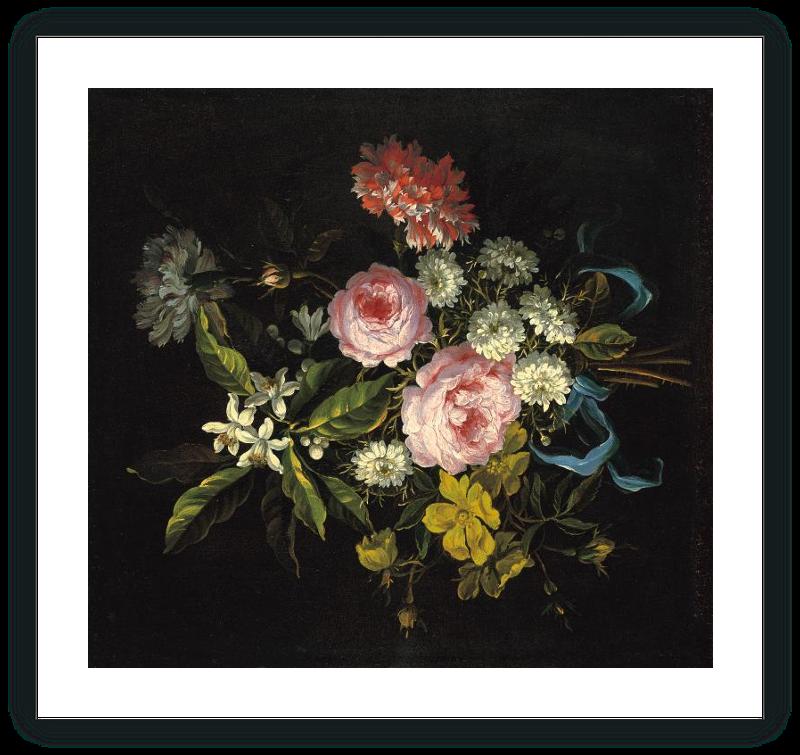 zoom Ramo compuesto por manzanilla, rosas francesas y otras flores