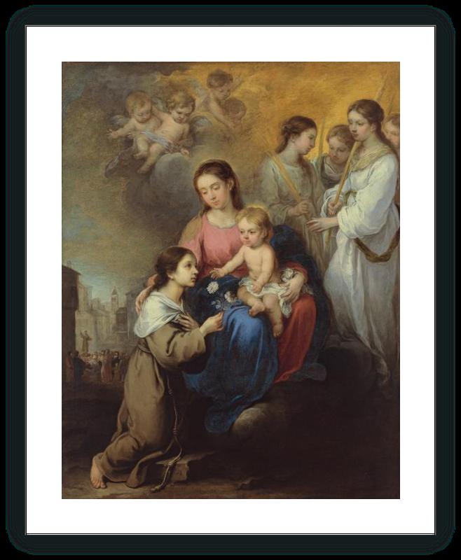 zoom La Virgen y el Niño con santa Rosa de Viterbo