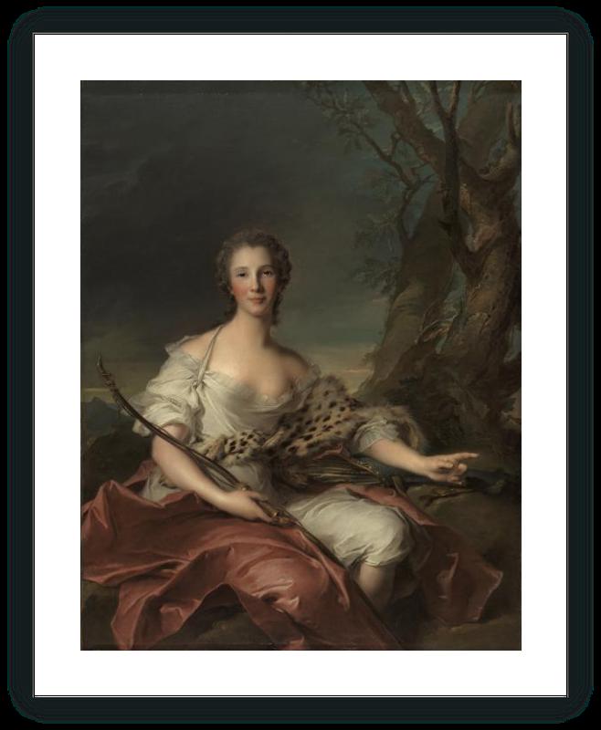 zoom Retrato de Madame Bouret como Diana