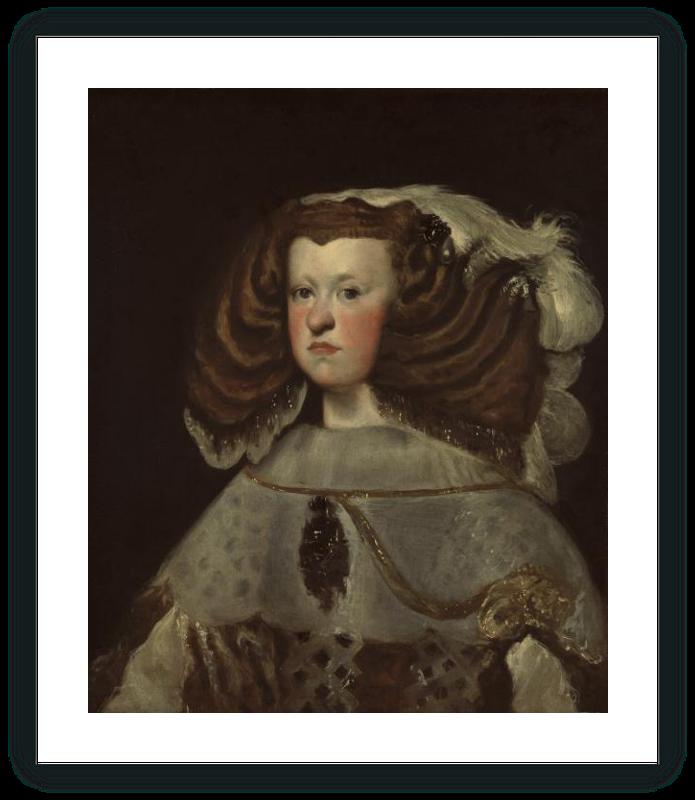 zoom Retrato de Mariana de Austria, reina de España