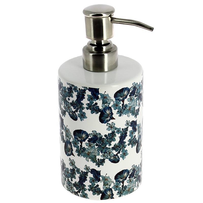 zoom Dispensador baño Florero con Vaso de cristal y frutas