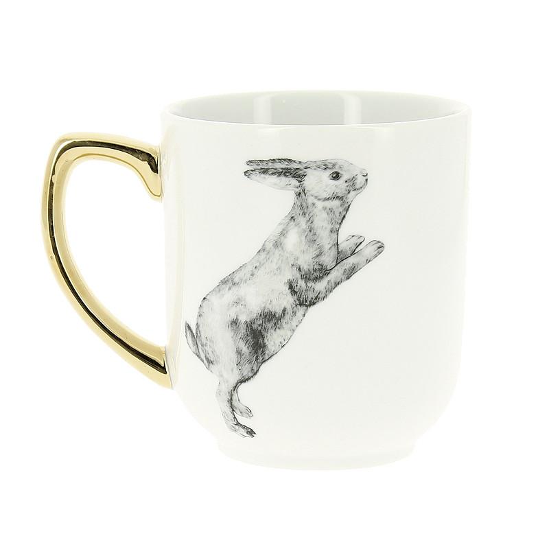 """zoom Mug """"Conejo"""" de Caravaggio"""