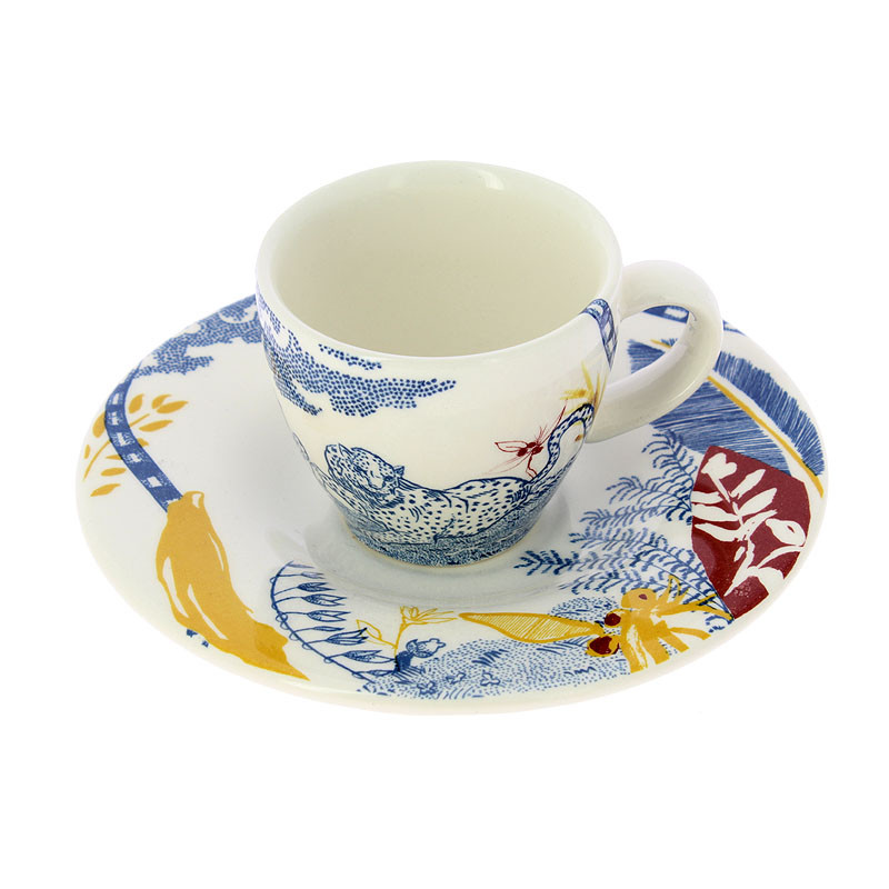 zoom Set taza de café y platillo La Cartuja x Jardín del Edén