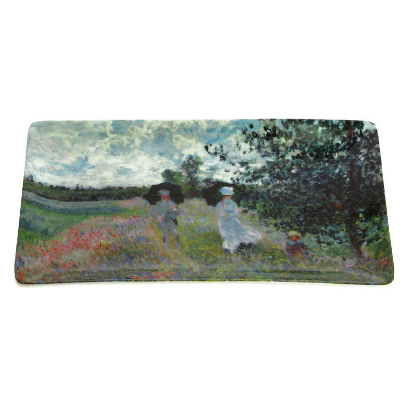zoom Bandeja de porcelana Paseo cerca de Argenteuil de Monet