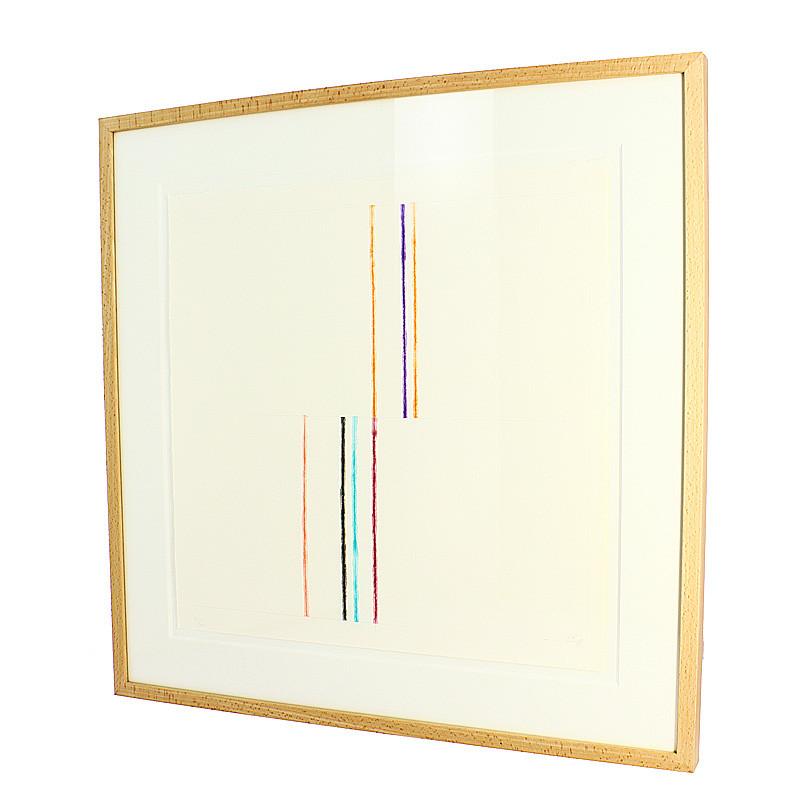 """zoom Grabado seriado, numerado y firmado """"Hilos del Agua (Segovia)"""" de Cesar Paternosto"""