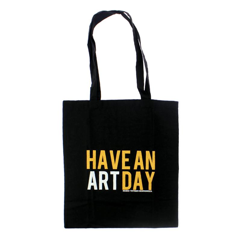 """zoom Bolsa negra """"Have An Art Day"""""""