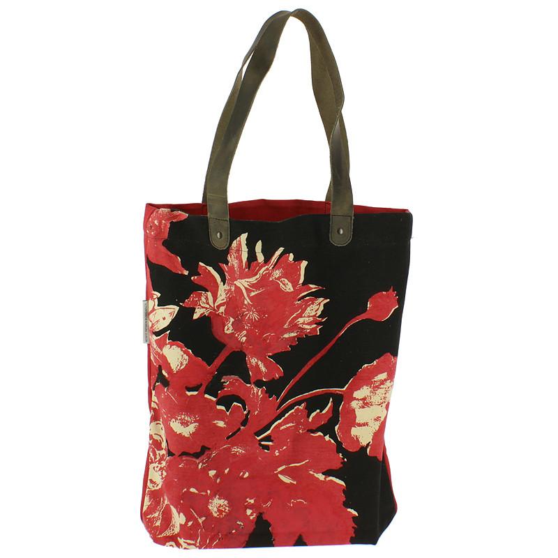 zoom Bolso Flores Linard rojo y negro