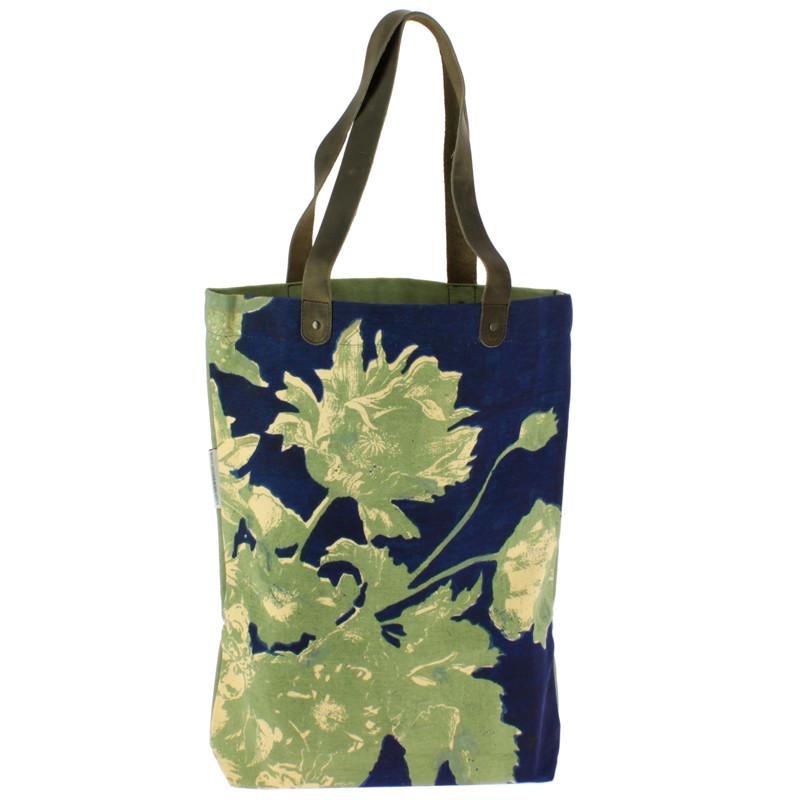 zoom Bolso Flores Linard verde y azul