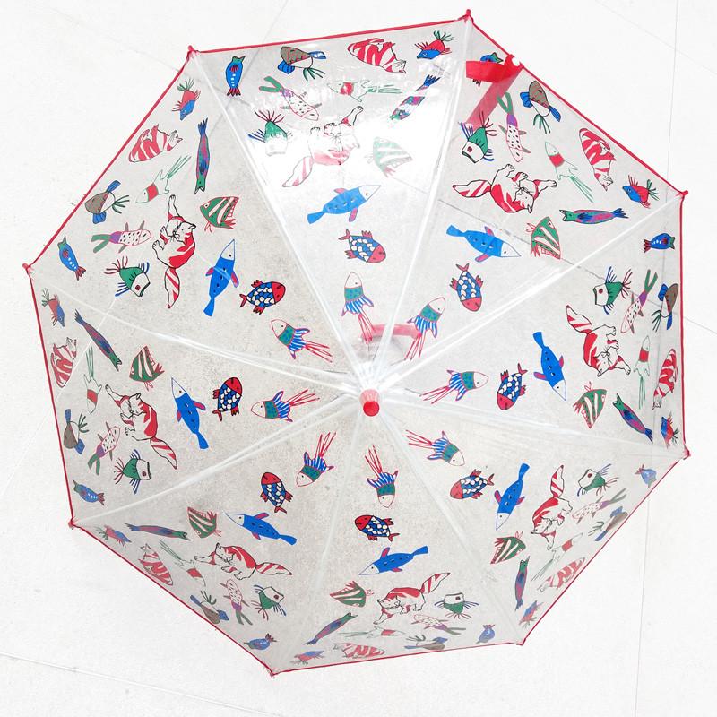 zoom Paraguas infantil Gato y pescado