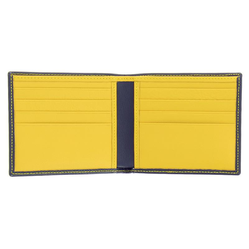 zoom Cartera bolsillo azul marino y amarillo