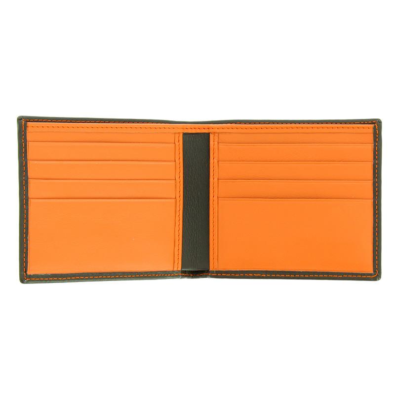 zoom Cartera bolsillo caoba y naranja