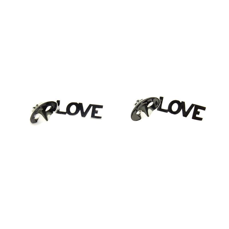 zoom Pendientes de plata Love, Love, Love
