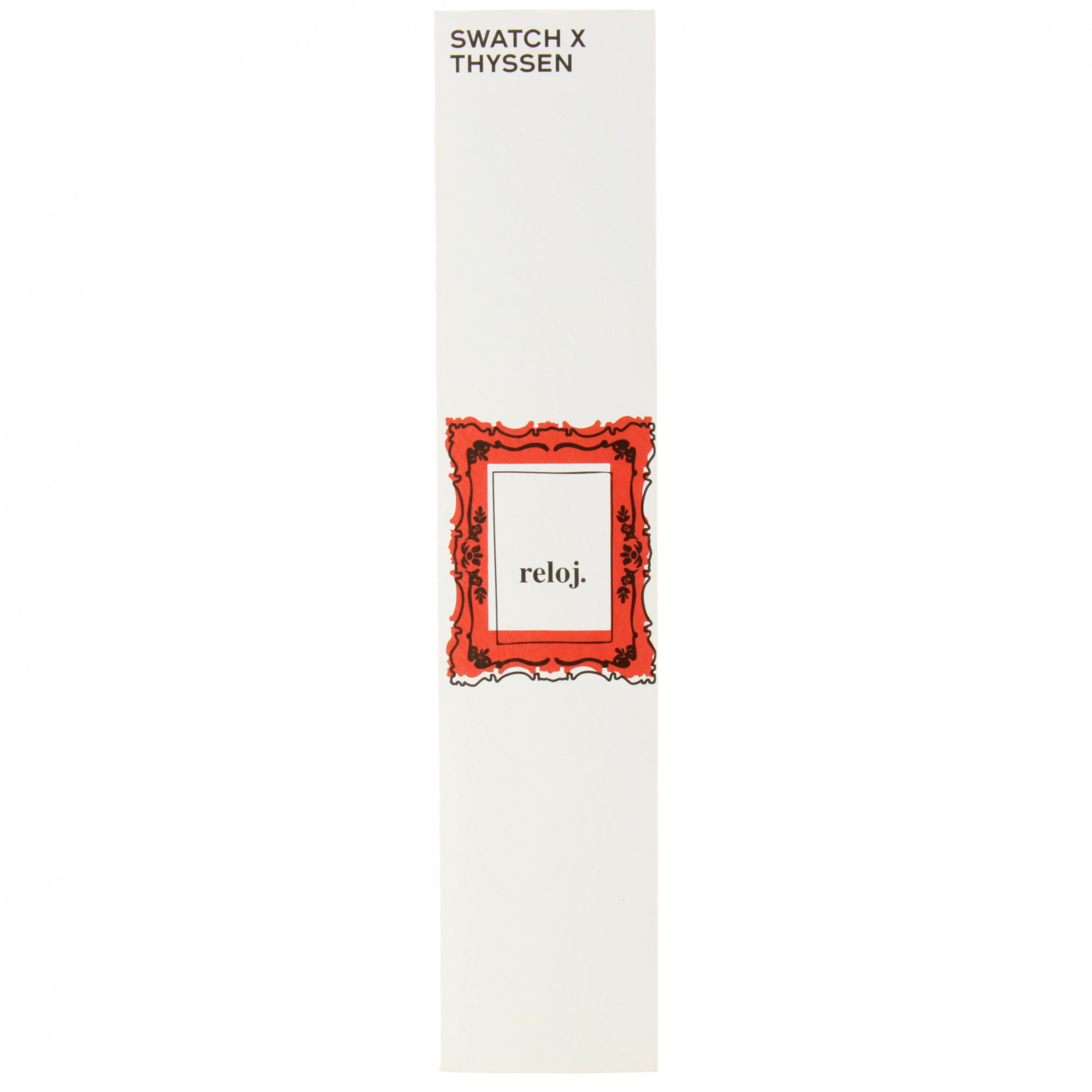 zoom Reloj Swatch x Thyssen Mondrian The Red Shiny Line