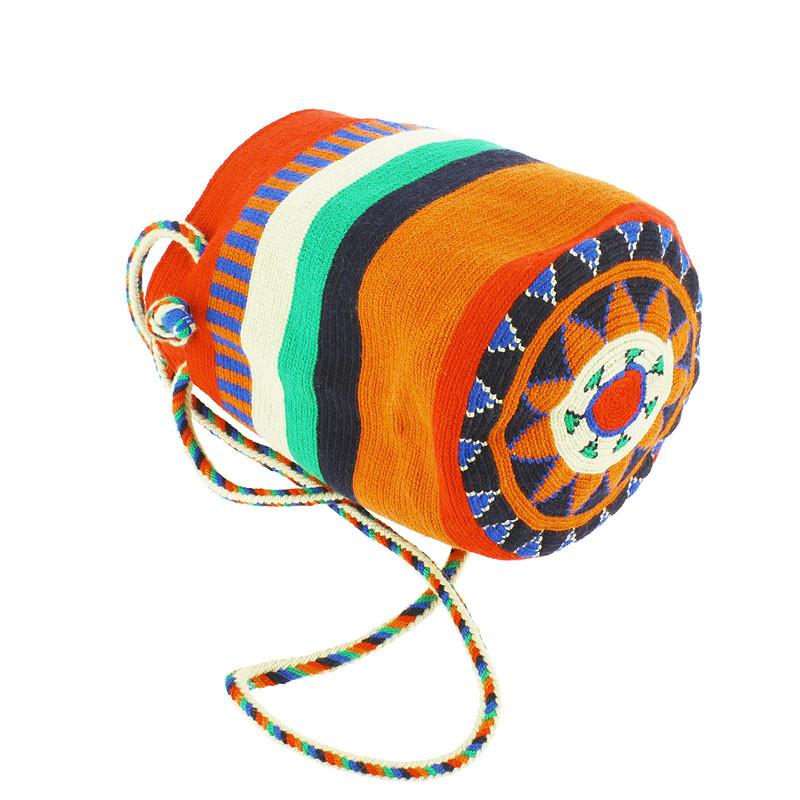 zoom Bolso pequeño Wayuu La portuguesa de Delaunay color rojo, naranja y azul