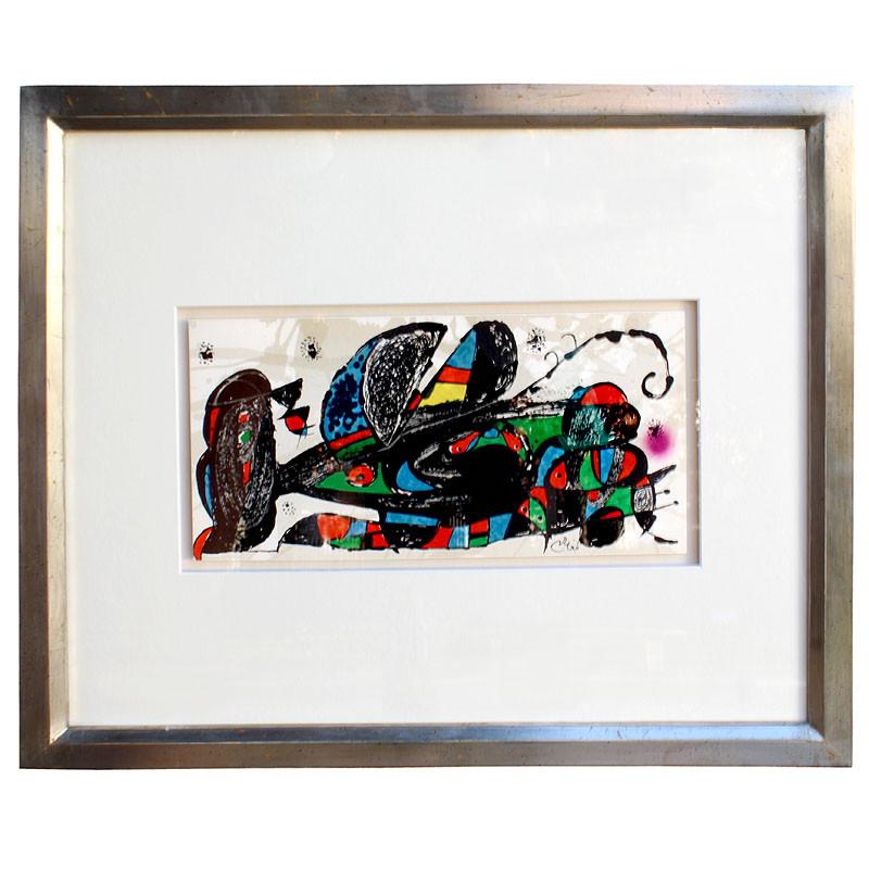 """zoom Litografía enmarcada Joan Miró """"Joan Miró.1974"""""""