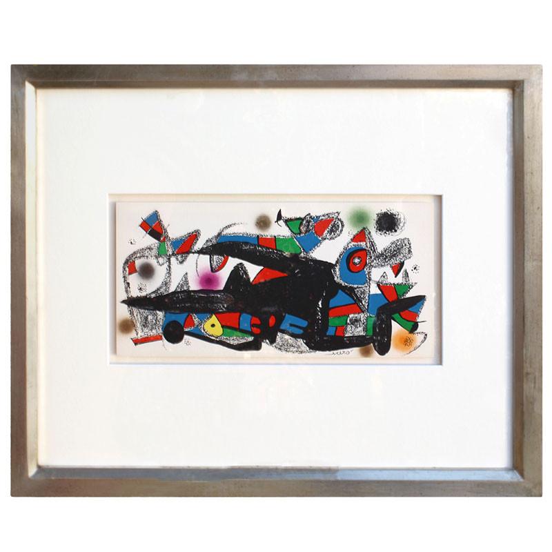"""zoom Litografía enmarcada Joan Miró """"Fotoscop. 1974"""""""