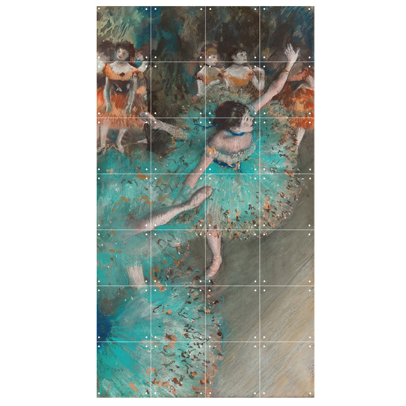 zoom Decoración mural IXXI 80 X 140  Bailarina basculando (Bailarina verde) Degas