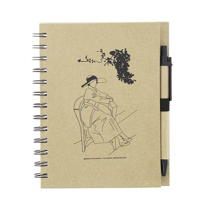 zoom Cuaderno con bolígrafo Sorolla Clotilde en el jardín