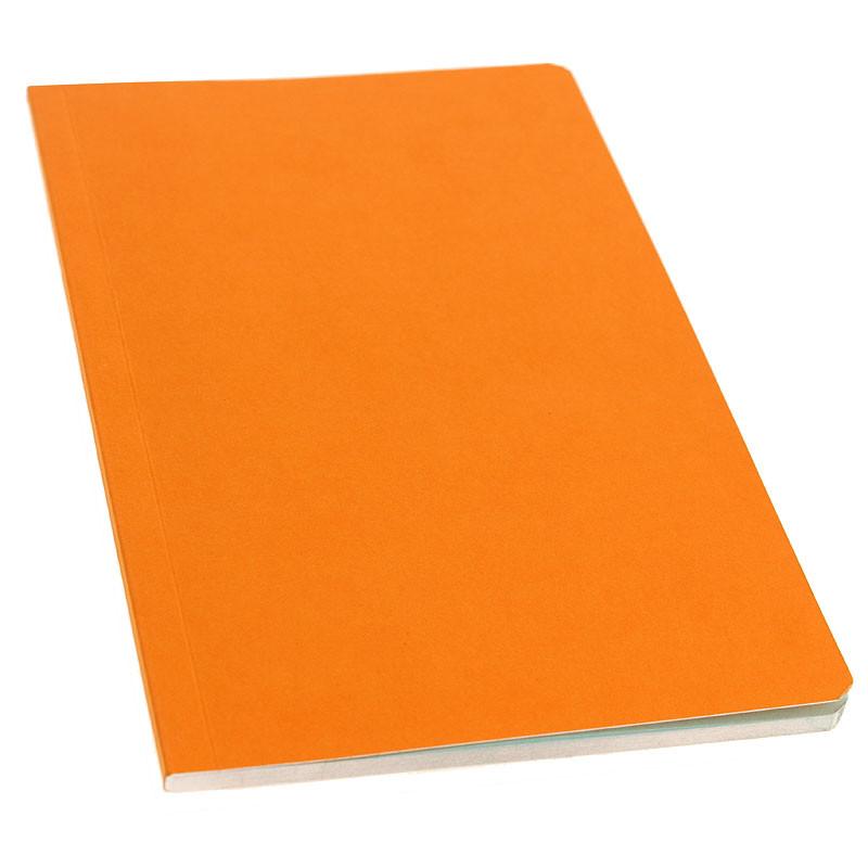 zoom Libreta naranja páginas celeste