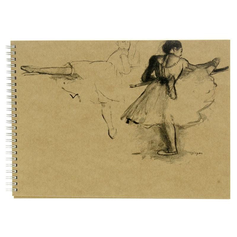 zoom Bloc dibujo bailarinas de Degas